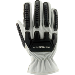 White Lizard Goat Leather Work Glove with TPR - M