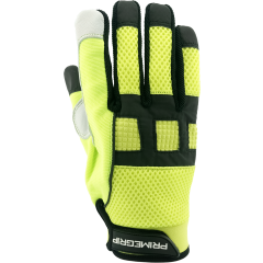 Meerkat Goat Grain Hi-Vis Mechanics Glove - M