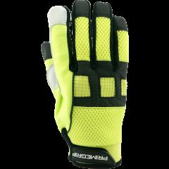 Meerkat Goat Grain Hi-Vis Mechanics Glove - XL