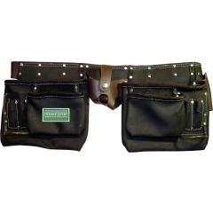 """13 Pocket Oil-Tanned Leather Pouch with 2"""" Leather Belt"""