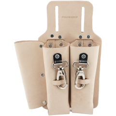 3-Pocket Vegetable-Tanned Leather Tool Holder