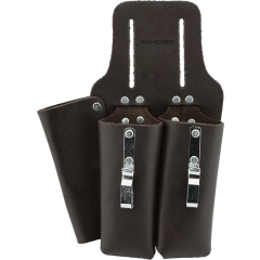 2-Pocket Oil-Tanned Leather Tool Holder